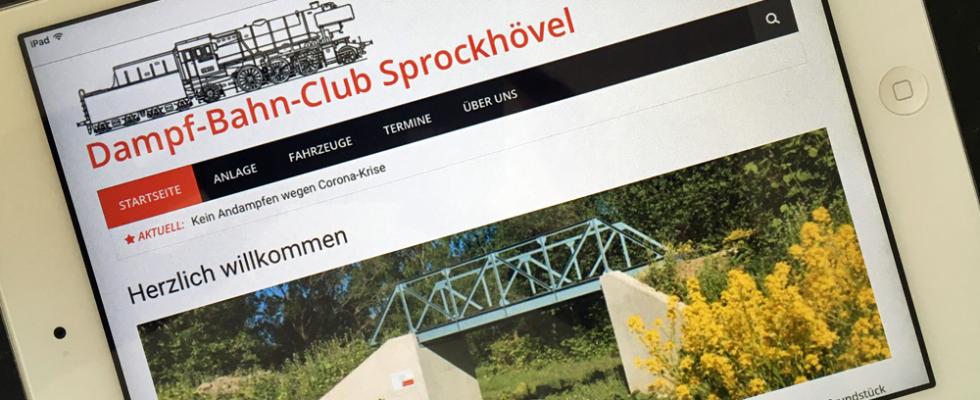 Neue Homepage des DBC Sprockhövel auf einen iPad